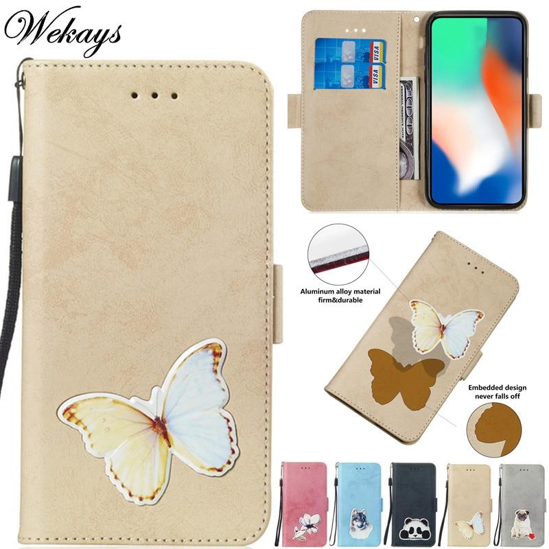 Wekays For Sony XA2 Ultra Cartoon Butterfly Leather Fundas Case For Coque Sony Xperia XA2 Ultra Cover Cases For Sony XA 2 Ultra