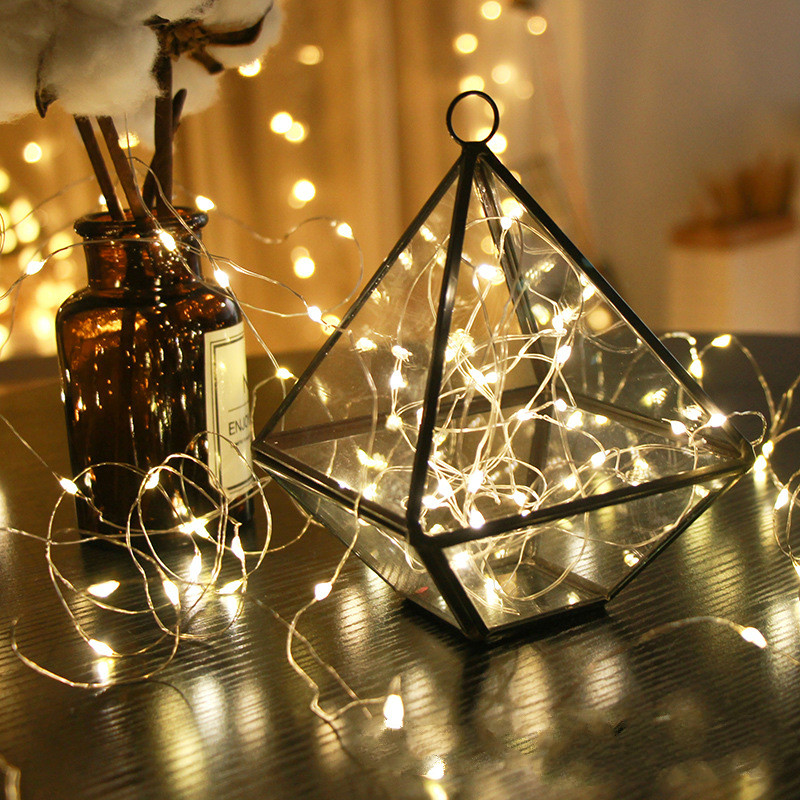 10 Colors Led Festival Fairy Lights Rose String Light For Christmas Party Wedding Decoration Soft And Light Artificial Decorations Artificial & Dried Flowers