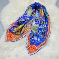 高スタイル100%シルクツイルスカーフヒジャーブ用ヘア包装ファッションプリント女