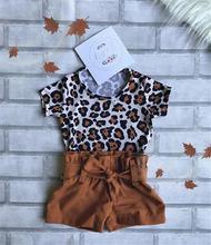 Комплект одежды pudcoco для маленьких девочек футболка с леопардовым