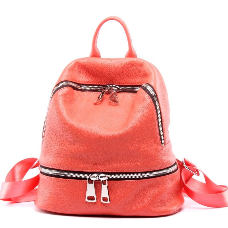 Модный 2019 женский 100% дизайнерский рюкзак из натуральной кожи черный женский маленький рюкзак для путешествий для девочек подростков; Sac A Dos Femme - 5