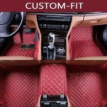 car floor mats for Jaguar XF XE XJL XJ6 XJ6L F-PACE F-TYPE firm soft car accessories car styling Custom floor mats brown цены онлайн