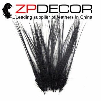 Venta al por menor y al por mayor de ZPDECOR 50 unids/lote 15-20cm (6-8 pulgadas) de alta calidad raro y negro especial pluma de plumaje Heron