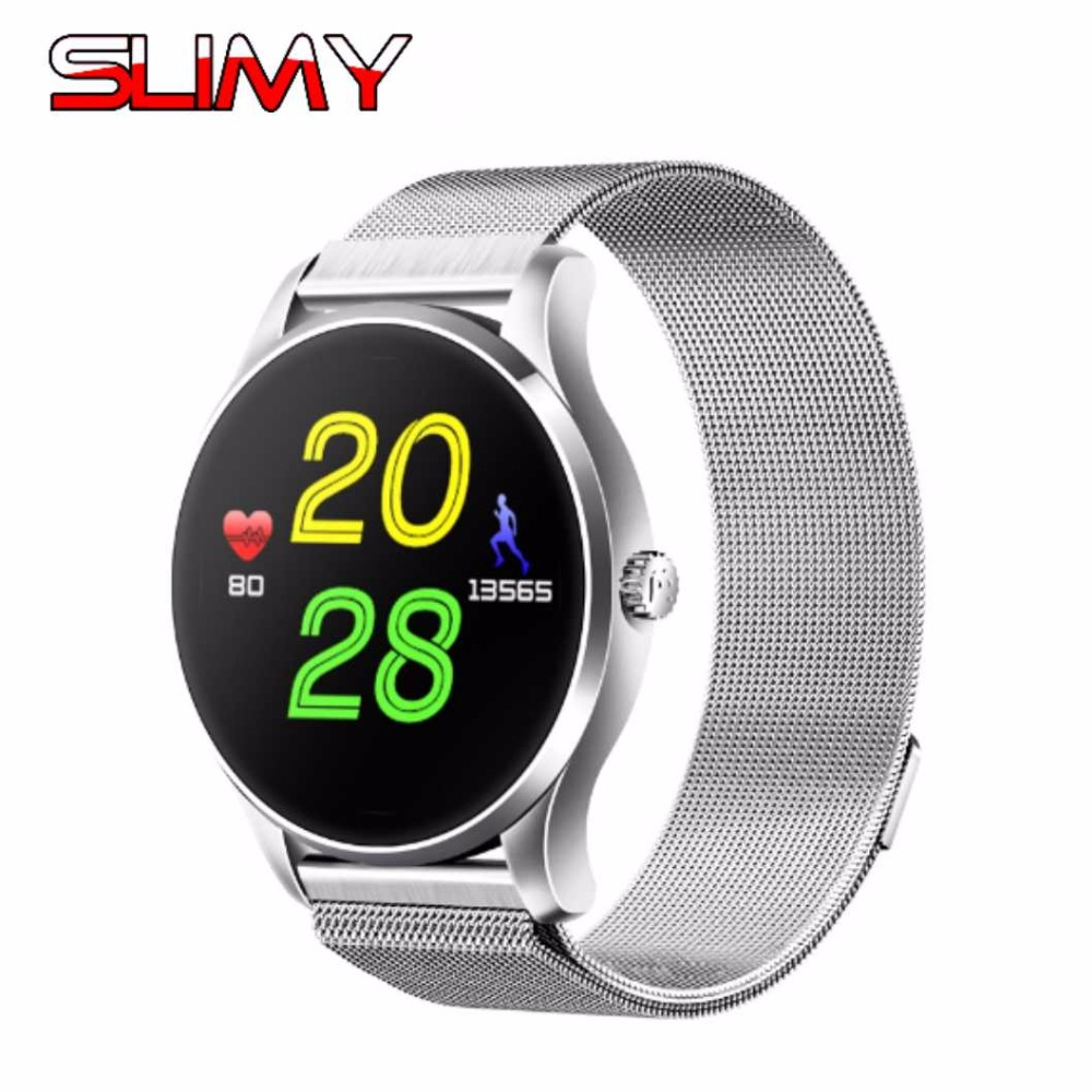 Slimy K88 Smart Watch 1.22 Inch IPS Round Screen Support Sport Heart Rate Monitor Bluetooth Smartwatch For IOS Android Phone все цены