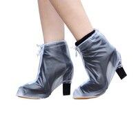 1 para damskie buty na wysokim obcasie wodoodporne kalosze szpilki antypoślizgowe odporne na zużycie ścięgna dole deszczowe sezon anty  brudne deszcz w Akcesoria do parasoli od Dom i ogród na