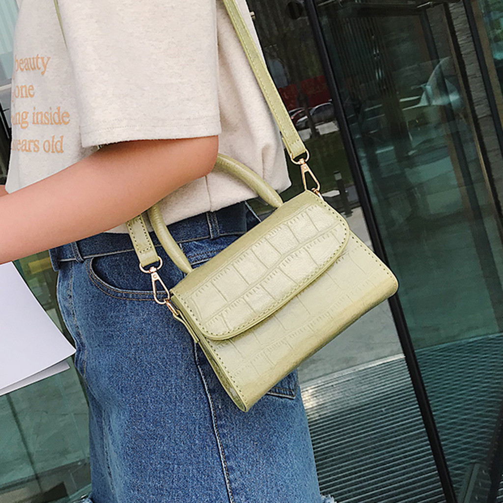 Women Shoulder Bags 2019 Fashion Retro Pure Color Vintage Leather Handbags Messenger Solid Color Simple Crossbody Bag bolsoWomen Shoulder Bags 2019 Fashion Retro Pure Color Vintage Leather Handbags Messenger Solid Color Simple Crossbody Bag bolso