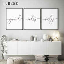 Scandinavian Style Good Vibes Only Wall Art Inspirational Quotes Posters and Prints for Living Room Decoration Pictures