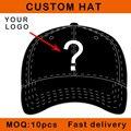 E116-14 niños tamaño personalizar diseño tapa de cierre broche de metal 3D logo de algodón de béisbol deporte curva pico personalizado sombrero pequeño