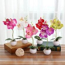 Искусственное растение бонсай имитация завод карликовое дерево в горшке Бабочка орхидеи элегантность Tranquilit цветочный горшок F300401