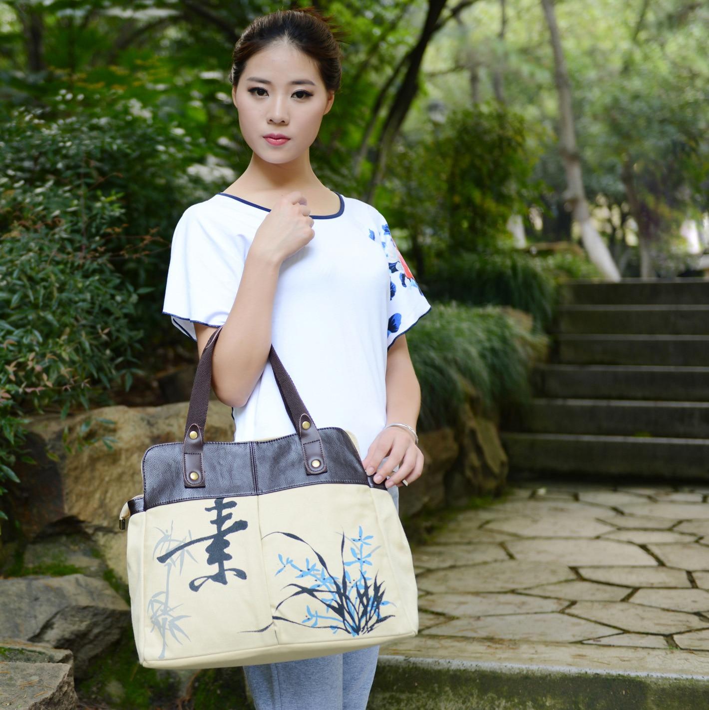 2018 новые ретро женские сумки холст цветок сумка Женщины сумки модные плечо сумка через плечо bolsa feminina