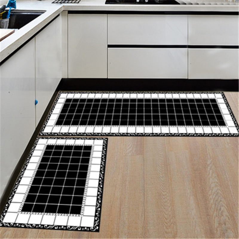 2pcs/set Large Alfombra Mats In Kitchen Bathroom & Kitchen Carpet Bathroom Carpet For To ...