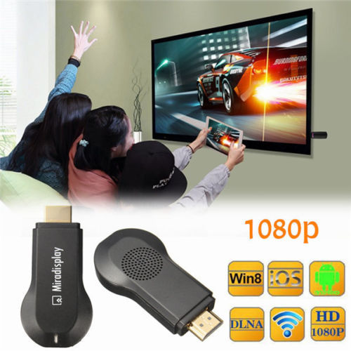 Miracast Dongle DLNA Airplay IOS 9 Android OTA WiFi HDMI 1080 P compartir