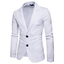 Men's 2018 fashion Slim fit suit jacket New Arrivals single button Spring coat autumn outwear 2 buttons Suits coat EU size M-XXL