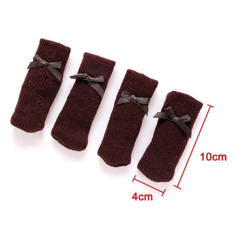 4 Pcs Knitting Table Chair Foot Leg Cover Sleeve Socks Floor Protector Home Dining Room Hot Sale4 Pcs Knitting Table Chair Foot Leg Cover Sleeve Socks Floor Protector Home Dining Room Hot Sale