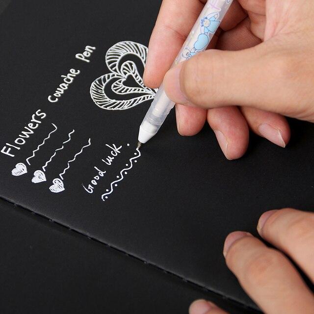Álbum de Fotografias a Cores de Tinta branca 0.8mm Gel Caneta Bonito Caneta Unisex Presente Para Crianças Artigos de Papelaria Escritório Escola Suprimentos de Aprendizagem