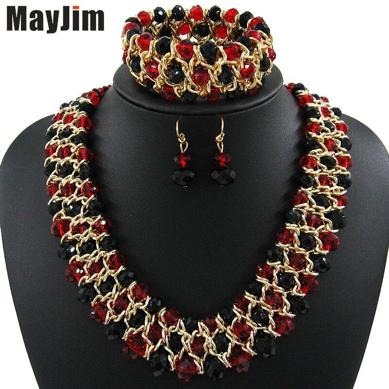 MayJim collar Llamativo 2017 joyería de la manera granos Hechos A Mano de la cad