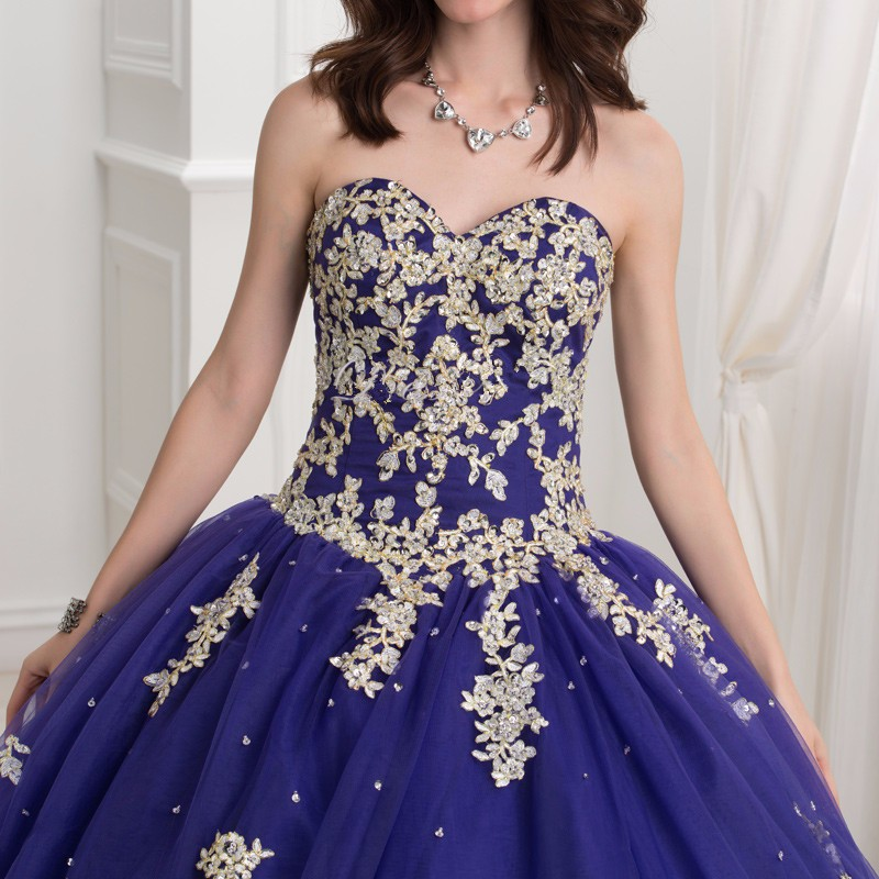 Dark-Royal-Blue-Ball-Gown-Quinceanera-Dresses-With-Gold-Lace-Applique-2016-Puffy-Sweet-16-Dress (3)