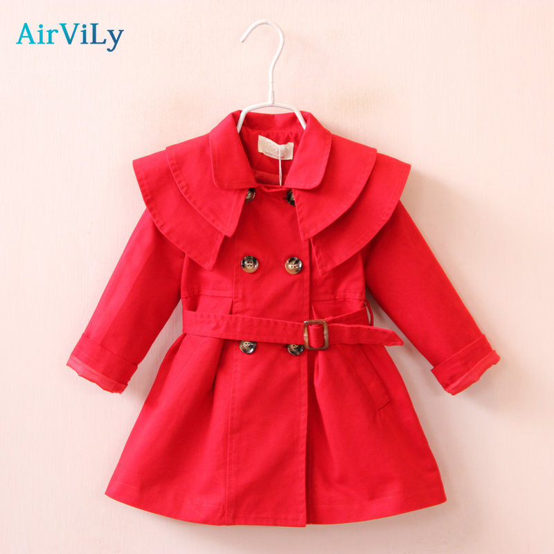 2018 Autumn Girls Windbreaker Fashion Cotton For Toddler Spring Belt Kids Outerwear Infant Trench Coat Princess Clothes2018 Autumn Girls Windbreaker Fashion Cotton For Toddler Spring Belt Kids Outerwear Infant Trench Coat Princess Clothes