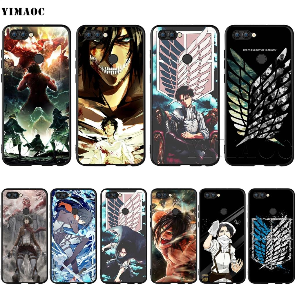 YIMAOC Attack On Titan Levi Case for Huawei Mate 30 20 Honor Y7 7a 7c 8c 8x 9 10 Nova 3i 3 Lite Pro Y6 2018 P30 P smart