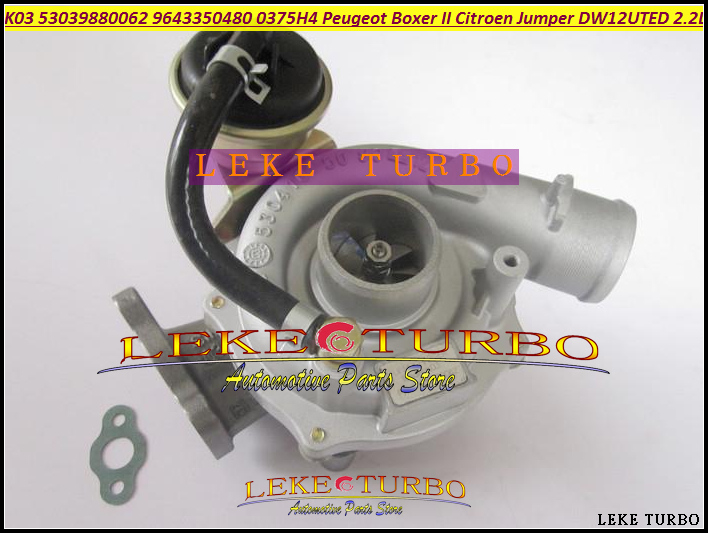 K03 62 53039880062 53039700062 9643350480 Turbo Turbocharger For Peugeot Commercial Boxer 2 Citroen Jumper 2001-10 DW12UTED 2.2L  цены
