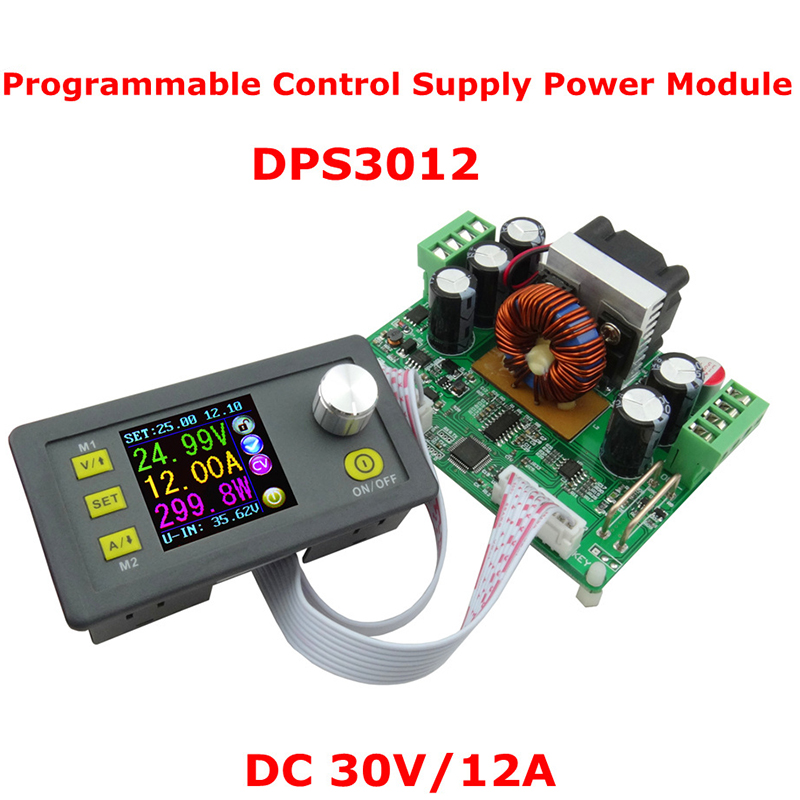 DPS3012 Constant Voltage current Step-down Programmable Power Supply Module Voltage Converter Color LCD Voltmeter rd dp30v5a dp50v5a constant voltage current step down programmable power module buck converter lcd voltmeter