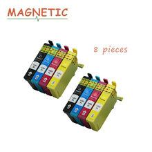 8pcs T1281 Compatible ink cartridge Full Ink for EPSON Stylus SX125 SX130 SX230 SX235W SX420W SX430W SX425W SX435 S22 Printer картридж t2 ic et1284 yellow для epson stylus s22 sx125 sx130 sx230 sx420w office bx305f с чипом