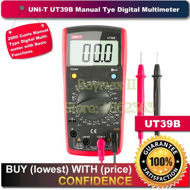 Aliexpress.com : UNI T UT39B 2000 Counts Digitalmultimeter für AC ...