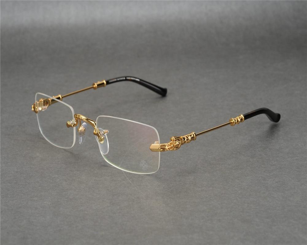 Men's Eyewear Frames Brand Design Unisex Retro New Fashion Alloy Full Rim Myopia Eyewear Frame Silver Gold Goggle Brand Optical Eyeglasses Women Men