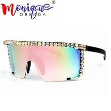 550fe9d41 Oversize Óculos De Sol mulheres Steampunk óculos de sol dos homens do  Espelho rosa Vermelho amarelo Claro óculos de lente dos Óc..