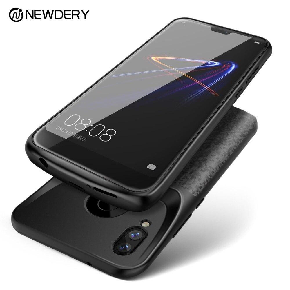 Newdery newest battery case for Honor 8 9 10 power external charging case for Huawei P20 Lite / Nova 3e black slim power bank