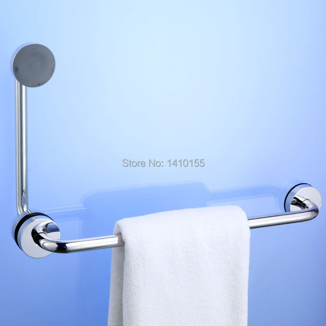 Awooden Stainless Steel Vacuum Suction Cup Bathroom Handrail Towel ...