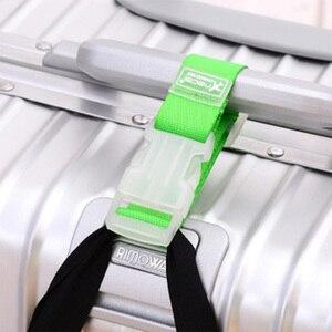Image 3 - רצועות מטען מתכוונן ניילון מזוודות אביזרי תליית אבזם רצועות מזוודה תיק רצועות צבעוני עניבת למטה חגורת מטען