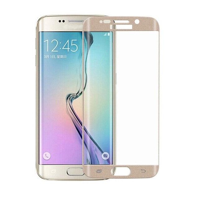 3D cobertura total de vidrio templado a prueba de explosiones protectores de pantalla para Samsung Galaxy S6 borde G9250