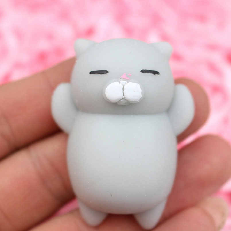 ג 'מבו רטוב Kawaii חמוד Cartoon חתול רך איטי עולה ג' מבו לסחוט Antistress טלפון סלולרי רצועת תליון ילדים שחרור לחץ צעצוע