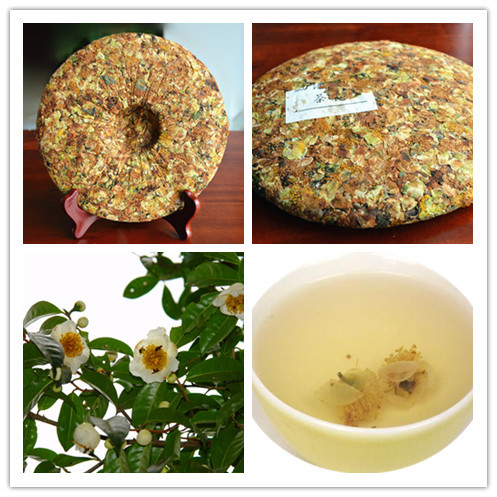 357g Camellia pu er tea cakes 2009 ancient trees old puer tea china Yunnan cake fragrant