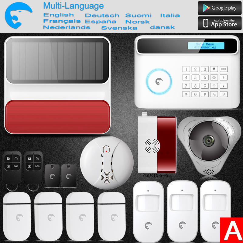 Etiger S4 GSM PSTN Wireless Alarm Security Android IOS APP Control Intruder Burglar Alarm For Home/Office/Factory kerui new 900 1800 1900mhz wireless gsm pstn burglar security alarm system for home house garden store shop office