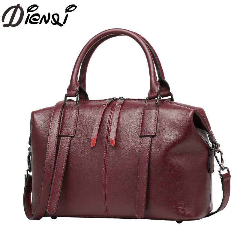 DIENQI Women Handbag 2018 New Designed Genuine Leather Crossbody Bags Tote Large Capacity Solid Shoulder Bag Bolsa Feminina 0791 arlanfivis genuine leather bags for women luxury large capacity handbag new 2018 fashion bolsa feminina ladies tote shopping bag