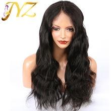 Jyz кружевные передние человеческие волосы парики 13х4 remy