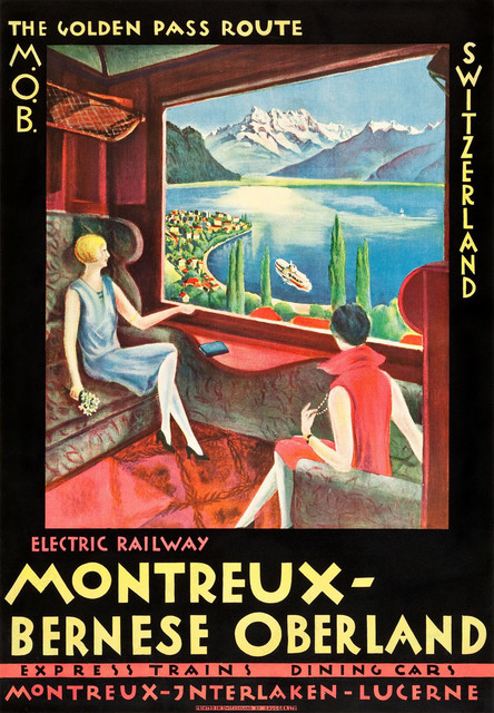 Golden Pass Route Montreal Bernese Landscape Travel Vintage Retro ...