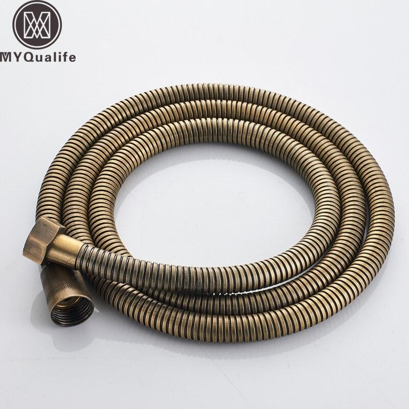 Freies Verschiffen Kleinhandel-antique Brass 59 hand Brauseschlauch Flexible Rohr Holse 150 Cm Heizung Schläuche Sanitär