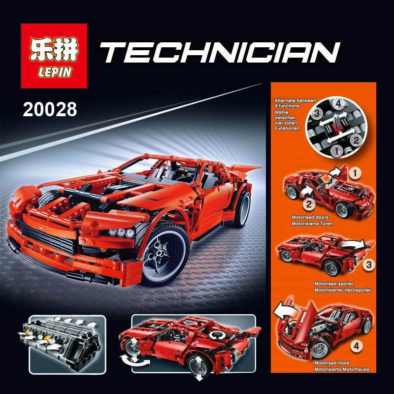LEPIN 20028 Technic series 1281PCS Super Car assembly toy car model DIY brick building block toy gift for boy New Year gift 8070 in stock lepin 20028 1281pcs technic series super car assembly toy car model diy brick building block toy gift for boy gift 8070