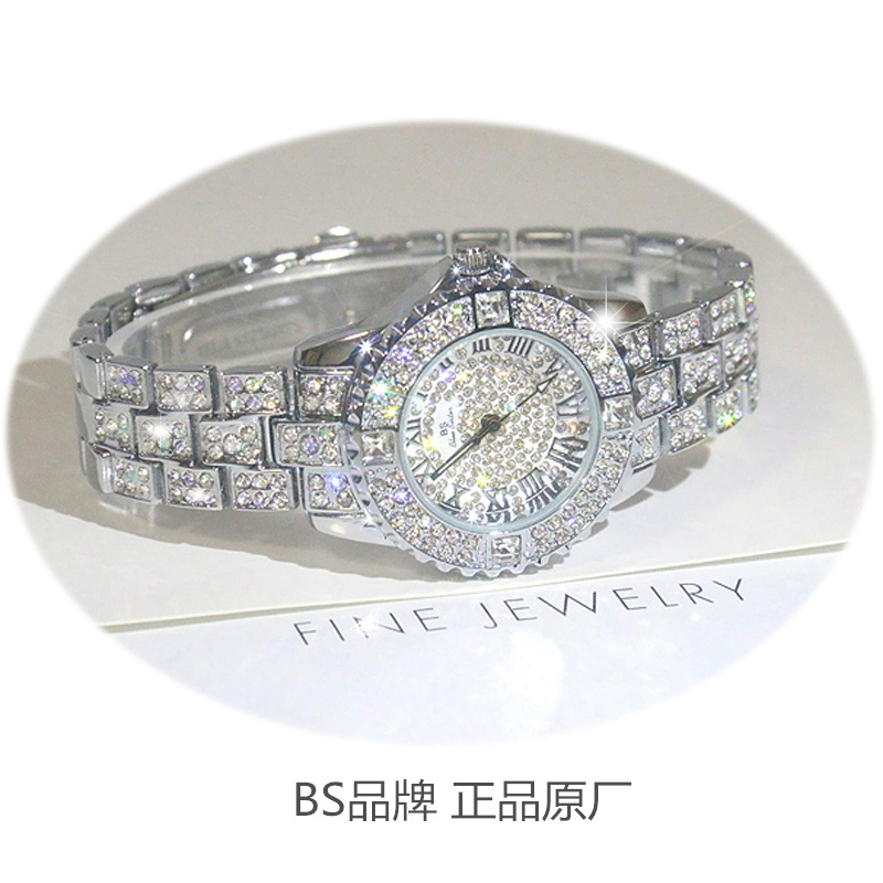 Arrival Famous Brand Bling Watch Women Luxury Austrian Crystals Watch Silver Shinning Diamond Rhinestone Bangle Bracelet new arrival grace bs brand full diamond luxury bracelet watch hot sale women 14k austrian crystals watch lady rhinestone bangle