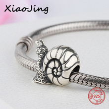 32d082574 New arrival 925 Sterling Silver snails Charm Bead Fit authentic European  Bracelet bead fashion Jewelry making