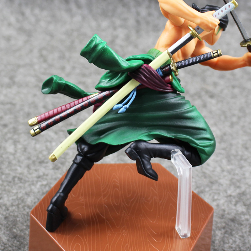 8 20cm New Arrival One Piece Roronoa Zoro PVC Figure Battle Version Cool Model for Collection with Box Doll kunai pet new hot 17cm one piece roronoa zoro action figure toys doll collection christmas toy with box combat version suolo5