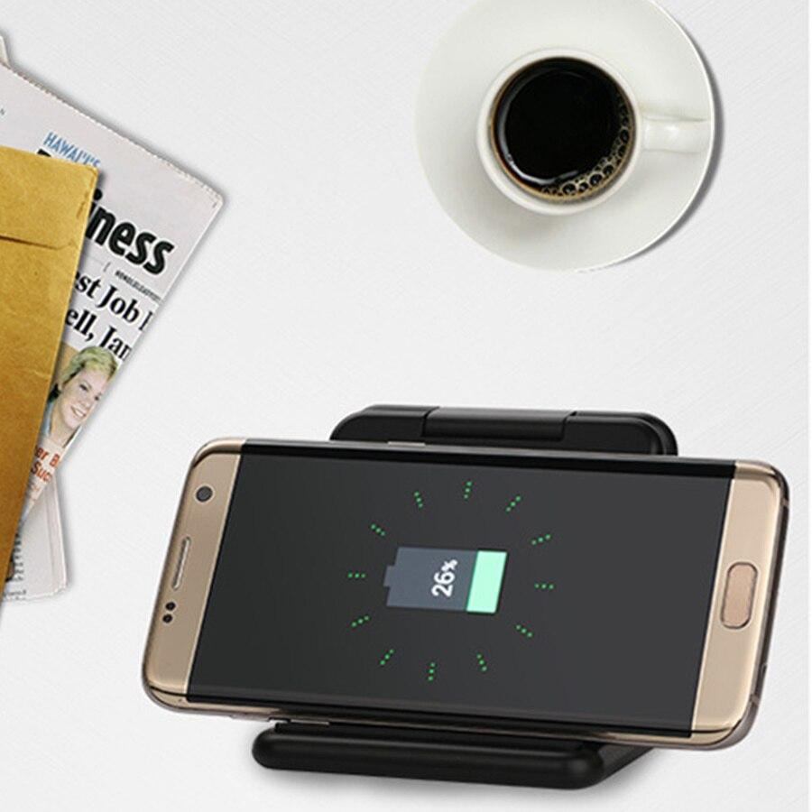 QI chargeur sans fil pour iPhone XS Max Portable support pliant batterie externe pour Samsung Galaxy S10 Plus S10e charge rapideQI chargeur sans fil pour iPhone XS Max Portable support pliant batterie externe pour Samsung Galaxy S10 Plus S10e charge rapide