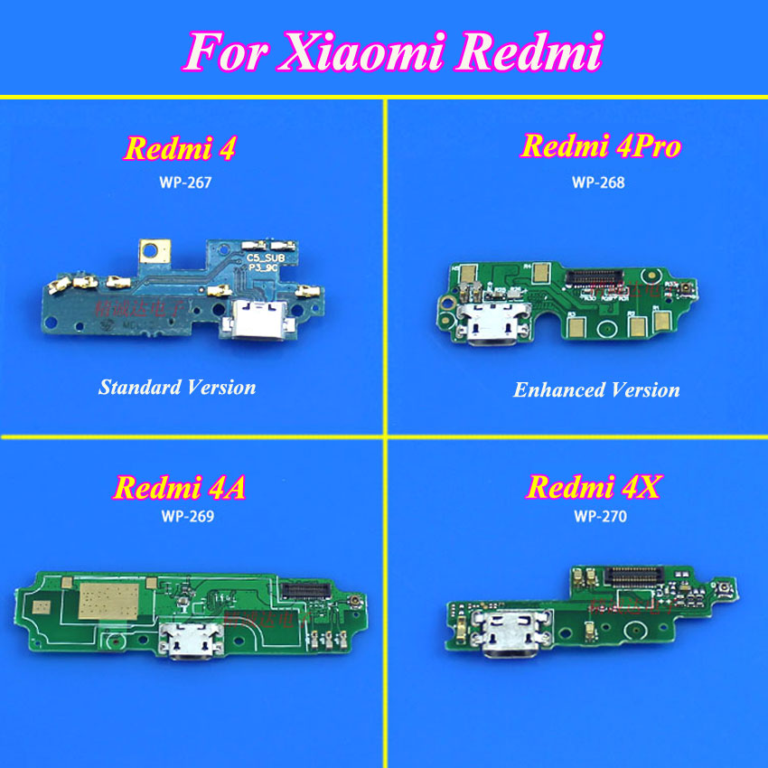 ChengHaoRan 1Piece Micro USB Charging Charger Dock Port Flex Cable For Xiaomi Redmi Hongmi 4 4Pro 4A 4X