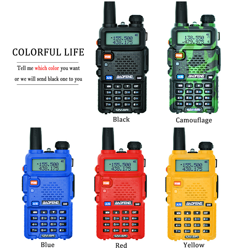 2 st Baofeng UV-5R Walkie Talkie UV5R CB-radiostation 5W 128CH VHF - Walkie talkie - Foto 3