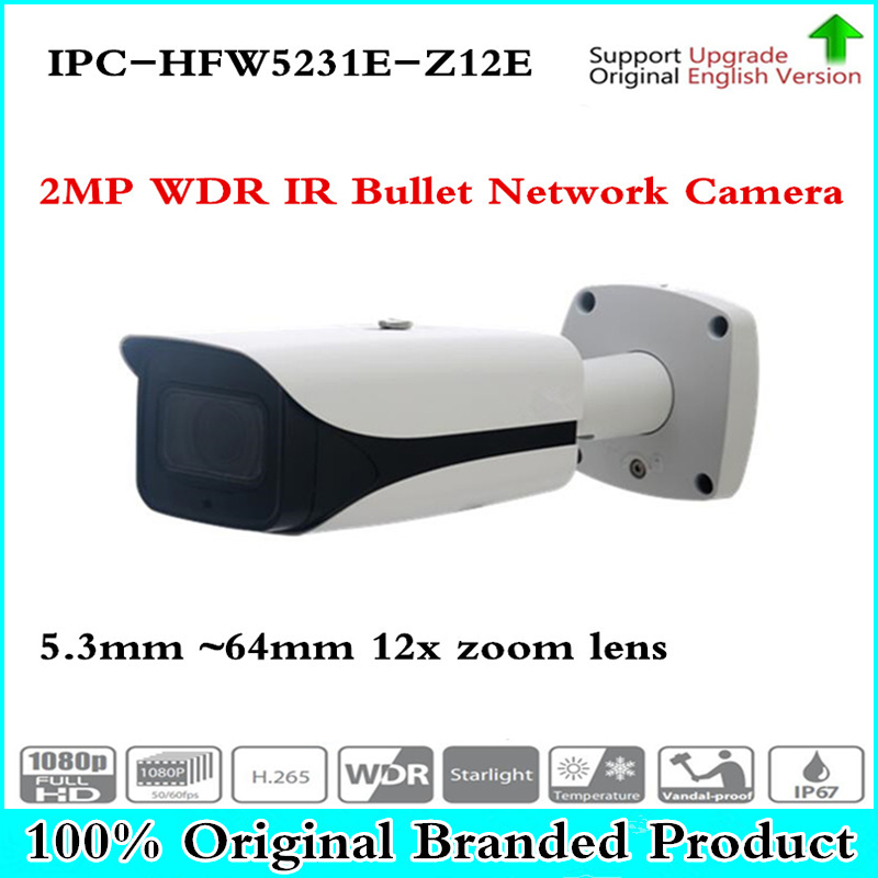 Original DH English IPC-HFW5231E-Z12 2MP Full HD WDR Network IR Starlight Bullet Camera IPC-HFW5231E-Z12,free DHL shipping цены