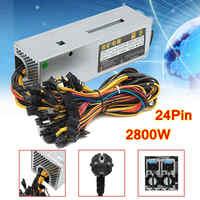 95 Efficiency 2800W 24Pin 12GPU Mining Power Supply For Eth Rig Ethereum Bitcoin Miner 90 PLUS