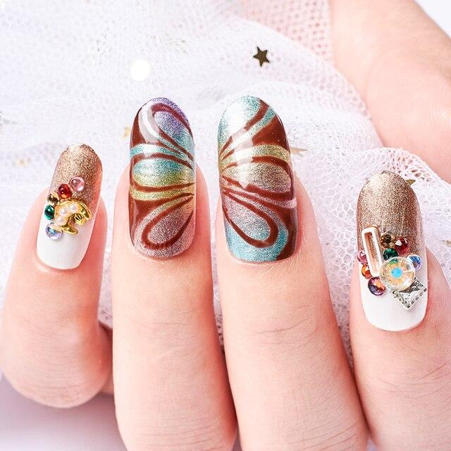 Vernis à ongles en tissu métallique, miroir métallique magique vernis à ongles en acrylique, trempage de dessin de fleurs, vernis en acrylique, manucure